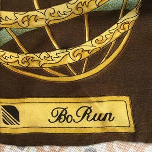 Vintage Bo Run Silk Scarf Constellation
